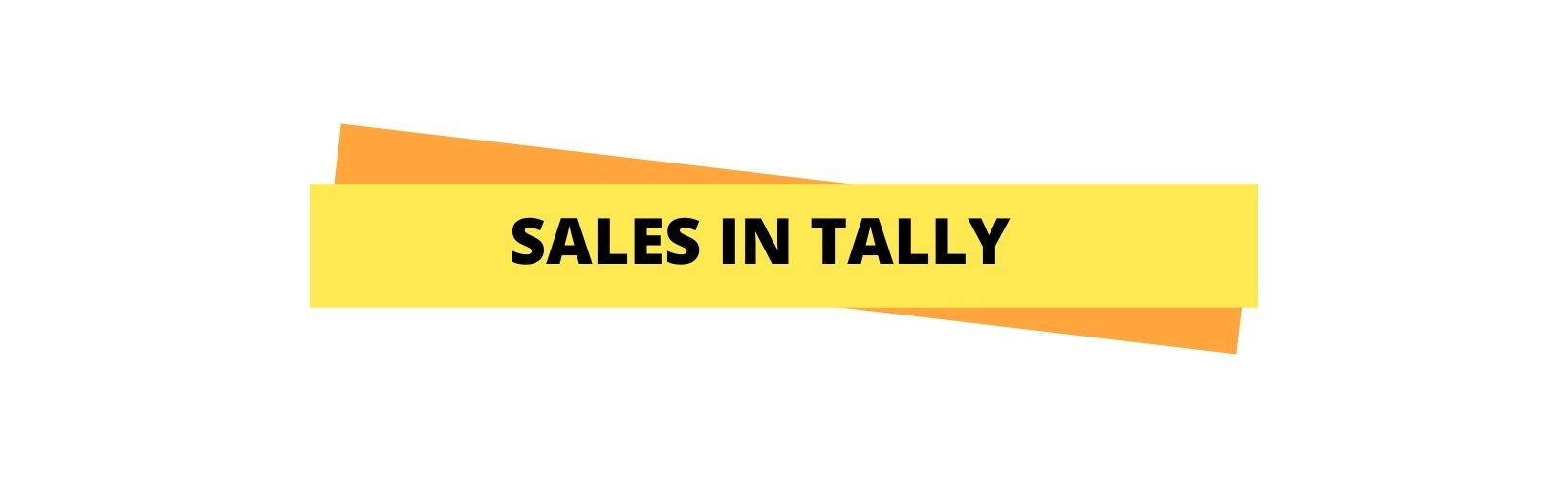 sales in tally